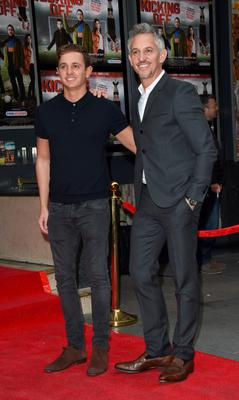 Gary Lineker and son George attend a screening of Kicking Off in London last night