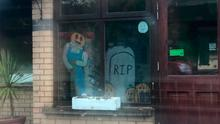 'Distasteful': The Halloween display featuring headstone with 'RIP' written on it has been taken down at Dungannon Care Home