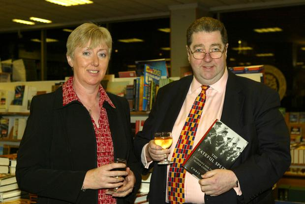 Chris Ryder and his wife Genny at the launch of his book The Fateful Split