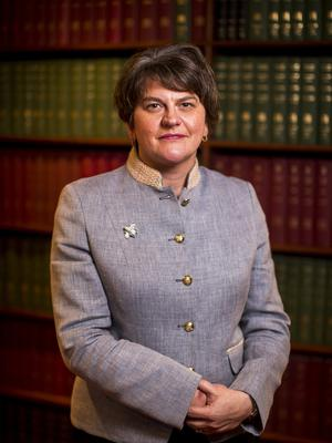 Arlene Foster said a wrangle over the details of Irish language legislation was not a reason to delay the restoration of Stormont (Liam McBurney/PA)