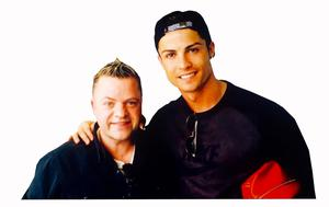 Real Madrid superstar Cristiano Ronaldo with Keith Norris