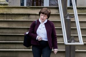 "Diane Dodds faced a series of questions around eligibility ""gaps"" in the financial support offered by Stormont (Liam McBurney/PA)"