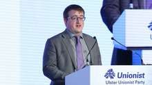 Nicholas Trimble speaking at the UUP conference
