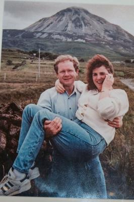 Martin McGuinness and his wife Bernie in Donegal