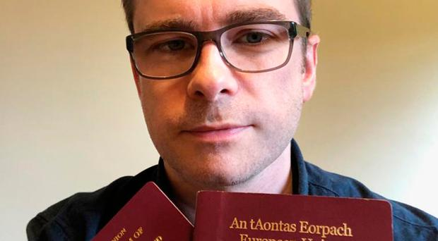 Tristan Drysden from Derry who was asked to show his passport on the Belfast-Dublin bus