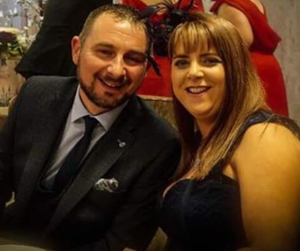 Mum-of-four Andrea Hackett, who died in a two-vehicle collision near Coalisland on Tuesday, with husband Colin