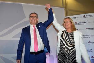 With wife Lynda Bryans during the UUP spring conference in 2016