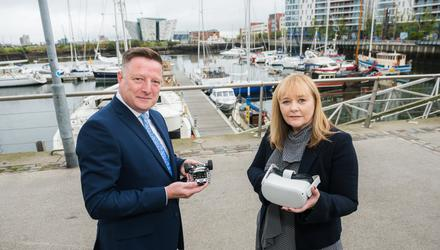 Civica Managing Director (Northern Ireland) Mark Owens and Education Minister Michelle McIlveen.