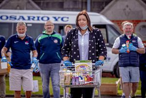 Deirdre Hargey visits a food bank