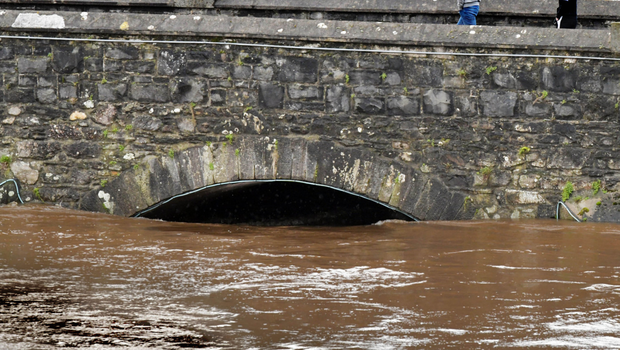 Serious flooding in Omagh