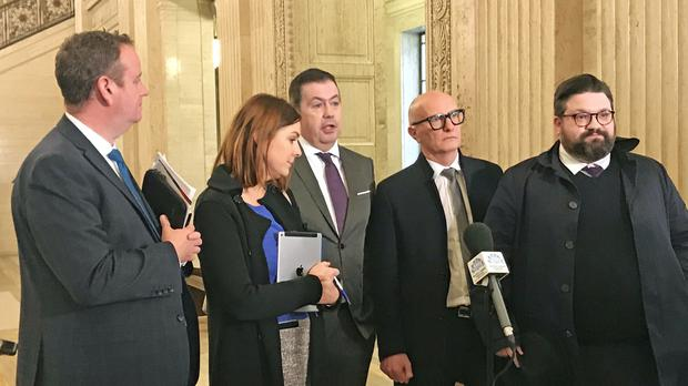 Stormont ministers have faced renewed calls from the business community for a timeline for emerging from the coronavirus restrictions (Rebecca Black/PA)