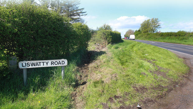 The scene of the crash near Coleraine on Saturday in which Suat Sedat Tireli died