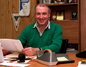 Tommy Cassidy at his desk during his time as a manager