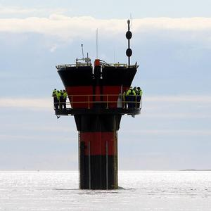 A marine current turbine has been installed at the Narrows in Strangford Lough