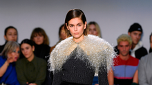 Kaia Gerber on the catwalk for JW Anderson