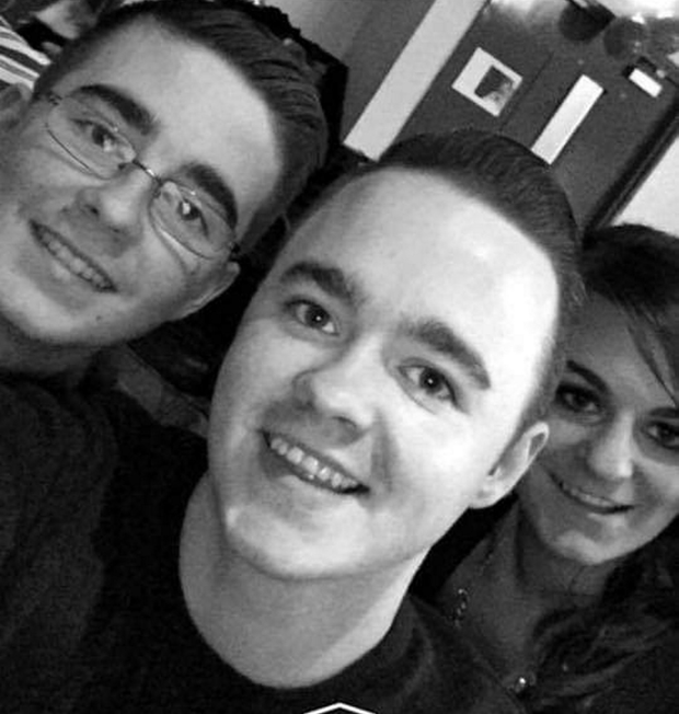 Christian with his brother Jordan and sister Angie