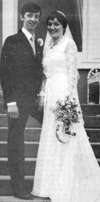 The couple on their wedding day in 1981