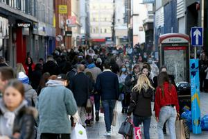 Shoppers in Belfast city centre earlier this month