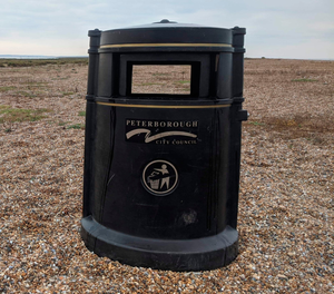 A Peterborough council bin on Blakeney Point was among the unusual items found on beaches cared for by the charity