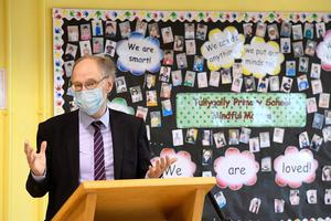 Education Minister Peter Weir had been under pressure to delay the return to school (Michael Cooper/PA)