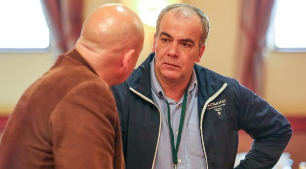Colin Duffy at the Saoradh press launch in the Canal Court Hotel, Newry
