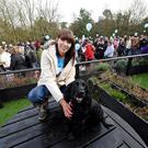 Ashleigh Murray with Marley and the hundreds who took park in Marley's Big Walk on Saturday