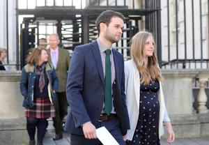 Daniel and Amy McArthur of Ashers outside court in October