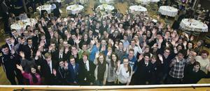 Schoolchildren at the Generation Innovation event at the Ulster Hall, which hopes to encourage them to stay in Northern Ireland and become young entrepreneurs