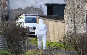 Emergency services at the scene of an incident in the Bankhall Road area of Larne