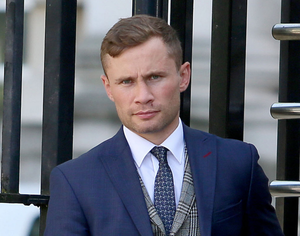 Allegations: Carl Frampton leaves the High Court in Belfast yesterday