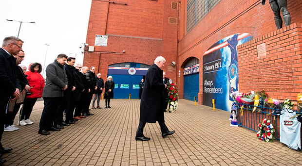 John Greig lays a tribute
