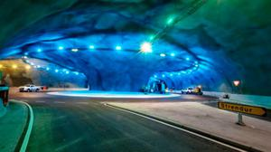 Link: The world's first undersea roundabout, part of an 11km Atlantic tunnel connecting the Faroe islands of Eysturoy andStreymoy and built last year at a cost of £120m
