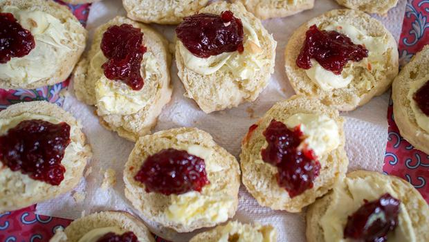 Some scones contained a whopping 740 calories (Ben Birchall/PA)