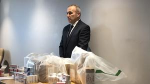 David Henderson, a detective inspector from the PSNI's organised crime unit, said a major seizure of online prescribed drugs showed that law enforcement is trying to do something about the supply of illicit medicines (Michael McHugh/PA)