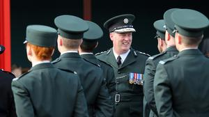 PSNI chief constable George Hamilton at the graduation ceremony of new police officers