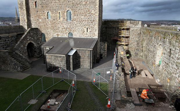 The project at Carrickfergus Castle to re-open a Victorian tunnel