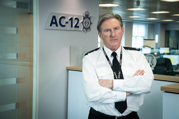 Adrian Dunbar as AC12 boss Superintendent Ted Hastings in Line of Duty. Photo: Steffan Hill