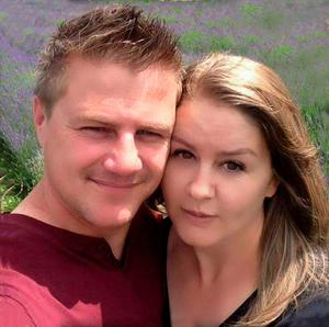 A family photo of Rudy and Lisinda Bruynius. Rudy died after being swept out to sea at Fistral Beach in Cornwall on Saturday