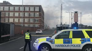 An accidental fire at Belfast's Bombardier Aerospace plant had 'minimal' impact, the economy minister Diane Dodds said (Rebecca Black/PA)