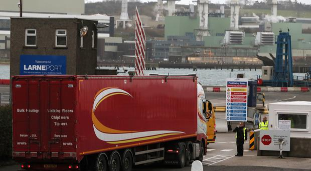 Larne Port, the main ferry crossing point between Northern Ireland and Scotland (Brian Lawless/PA)