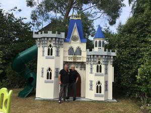 The spectacular castle he made for Peter Stringfellow's children