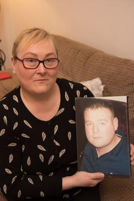 Heartache: Donna Smith from Derry, whose son Andrew Allen was murdered in 2012