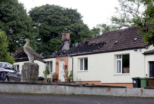 The gutted house onbthe Dows Road nearbDrumbo yesterday