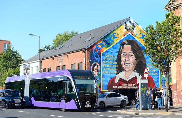 The Glider service has been disrupted in west Belfast