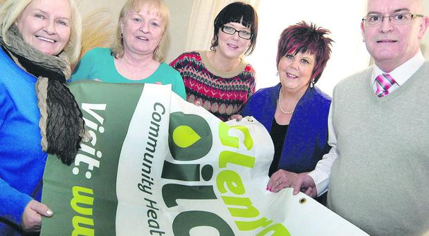 Warming to the idea: Roisin Marron, Deirdre Mullholland, Suzanne Scullion, Marion Maguire and Councillor Paul Maguire