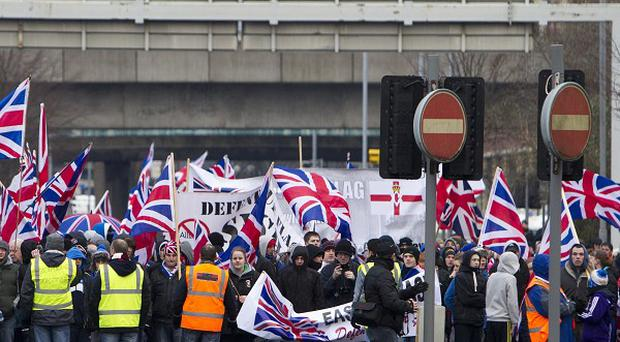 Loyalist flag protests on Saturdays are hurting trade in Belfast city centre, it has been claimed
