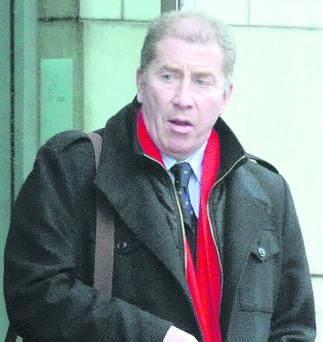 Tour manager Alastair Hetherington leaving Belfast Crown Court