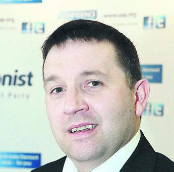 Robin Swann MLA, father of a three-month-old son who is awaiting surgery