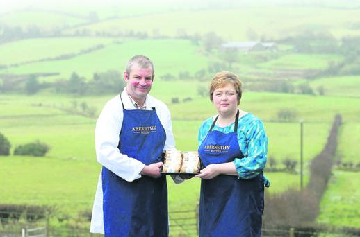 Will and Alison with the packaged butter