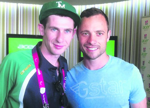 Michael McKillop tweeted pic of him with Pistorius